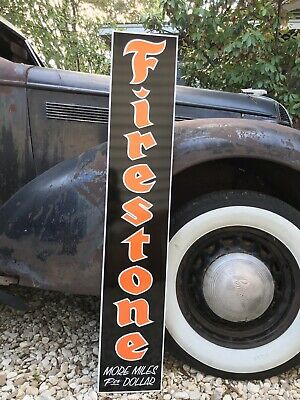 "Antique Style Firestone Sign Vintage Look 48""!"