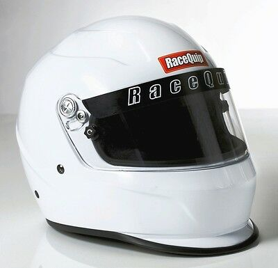 RaceQuip Pro15 Helmet - Large - White - Snell SA2015 Certified - 273115