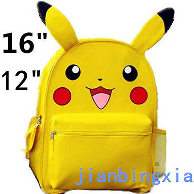 "Pokemon Go! Pikachu Back to School Backpack Bag with Ear 12"" 16"" Family Gift"