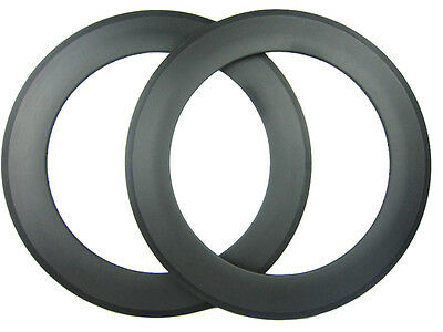 25mm width one pair 88mm deep Clincher  carbon road racing rim