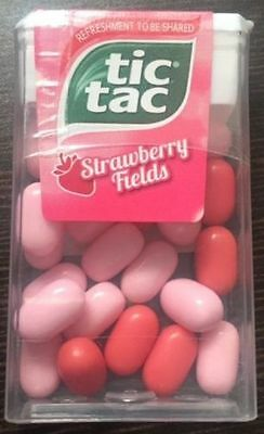 TIC TAC STRAWBERRY FIELDS MINT CANDY 13gm ( PACK OF 18 )