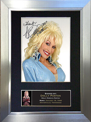 DOLLY PARTON Signed Autograph Mounted Photo Reproduction A4 Print 239