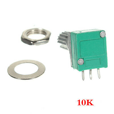 2x(10 K Ohm linear Rotary Pot-Potentiometer mit Mutter & Distanz GY