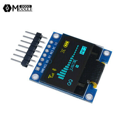 "3-5V 0.96"" SPI Serial 128X64 OLED LCD LED Display Module blue yellow for Arduino"