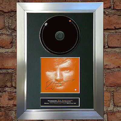 ED SHEERAN + ALBUM Signed Autograph CD & Cover Mounted Re-Print A4 no39