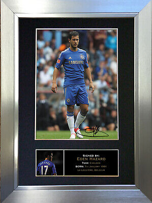 EDEN HAZARD Chelsea Football Signed Autograph Mounted Photo Re-Print 270