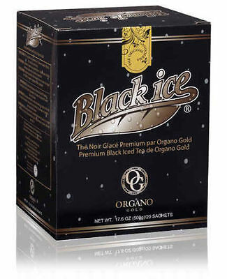 Organo Gold Cafe Black Iced Tea Coffee Ganoderma Adults & Kids Love it - 4 Boxes