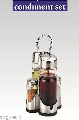5 Pieces Cruet Condiment Set Salt Pepper Shakers Oil Vinegar Cruet Spice Bottle
