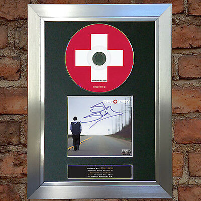 EMINEM Recovery Album Signed Autograph CD & Cover Mounted Print A4 23
