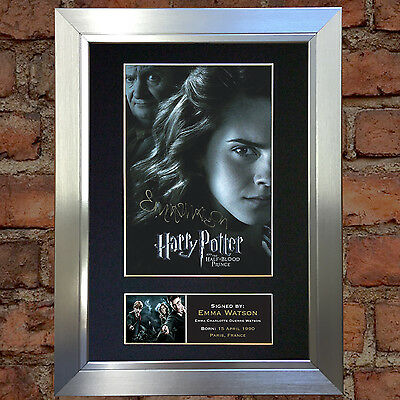 EMMA WATSON Harry Potter Signed Autograph Mounted Reproduction Photo A4 134