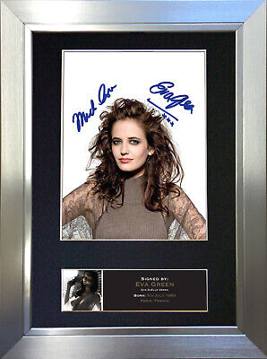 EVA GREEN Sin City Signed Autograph Mounted Photo Reproduction A4 Print no509
