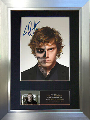 EVAN PETERS Signed Autograph Mounted Reproduction Photo A4 Print no561