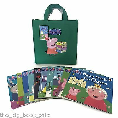2016 Edition New Titles Peppa Pig Collection - 10 Books in Green Bag