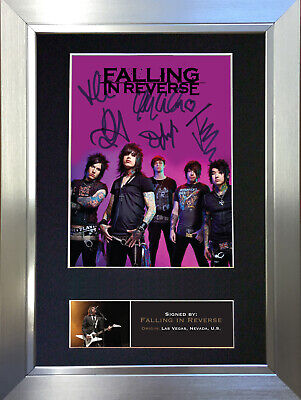 FALLING IN REVERSE Signed Autograph Mounted Photo Reproduction A4 Print 571
