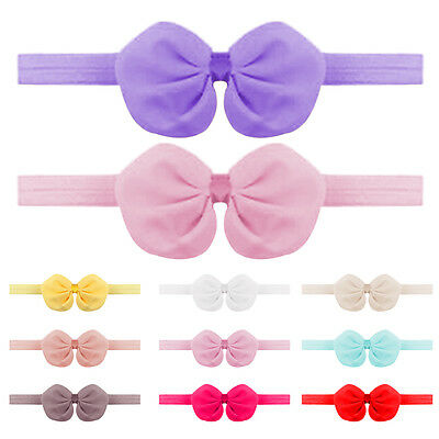 10Pcs Baby Headband Newborn Toddler Flower Girl Bowknot Hair Band Headwear