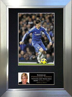 FERNANDO TORRES Chelsea Signed Autograph Mounted Photo Repro A4 Print 37