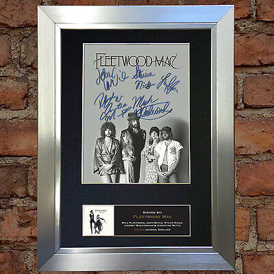 FLEETWOOD MAC Signed Autograph Mounted Photo Reproduction A4 Print no487