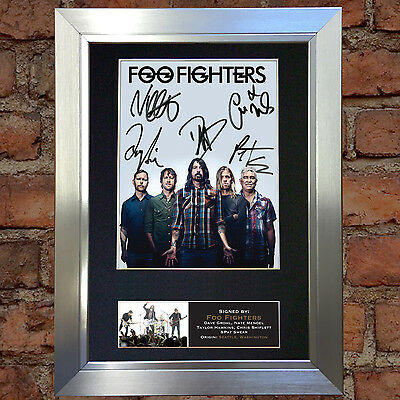 FOO FIGHTERS No2 Signed Autograph Mounted Photo Reproduction A4 Print no597