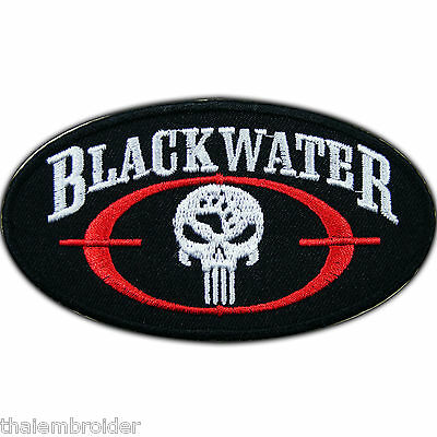 Punisher Blackwater Skull Military Private Security Army Iron-On Patches #P021