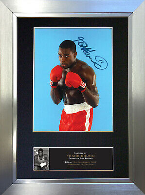 FRANK BRUNO Boxing Signed Autograph Mounted Photo Repro A4 Print 536
