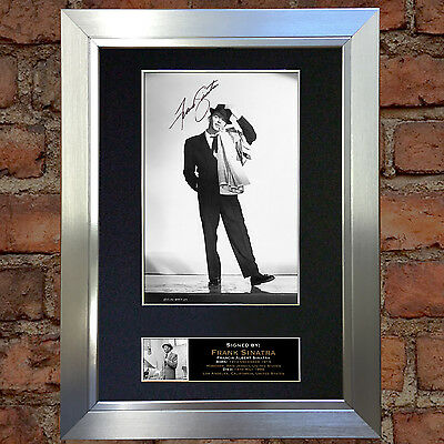 FRANK SINATRA Signed Autograph Mounted Photo Repro A4 Print 146