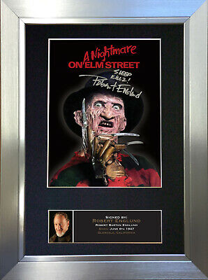 ROBERT ENGLUND Freddie Kruger Signed Autograph Mounted Reproduction Photo A4 381
