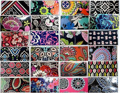Vera Bradley Fabric Vinyl CheckBook Cover W+W/O Persnalizd Monogram Check book 2