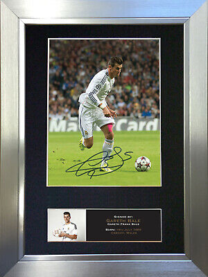 GARETH BALE No2 Real Madrid Signed Autograph Mounted Photo Repro A4 no552