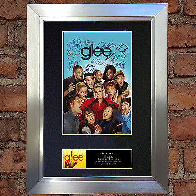 GLEE Signed Autograph Mounted Reproduction Photo A4 Print no118