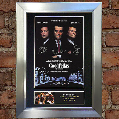 GOODFELLAS Signed Autograph Mounted Reproduction Photo A4 Print no9