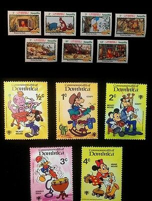 Walt Disney Productions Stamp Collection 116 Stamps Different Countries 1980'S