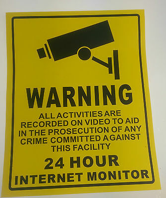 Warning CCTV Camera - Security Camera Stickers Signs Decals - CCTV Recording