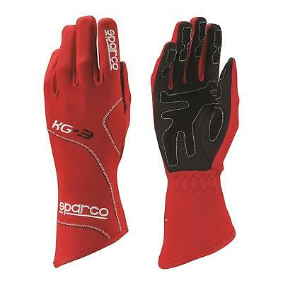 Sparco Blizzard KG-3 Race Karting Gloves, Entry-Level, Black, Size Adult Small