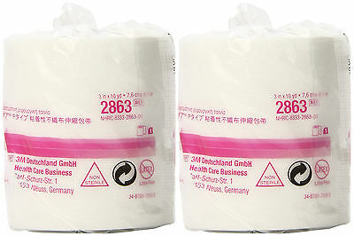 """3M 2863 Medipore H Soft Cloth Tape 3"""" x 10 Yards - Pack of 2 Rolls"""