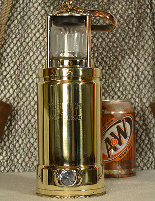 Vintage Brass McGeoch Royal Navy Ships Lantern with Bronze handle