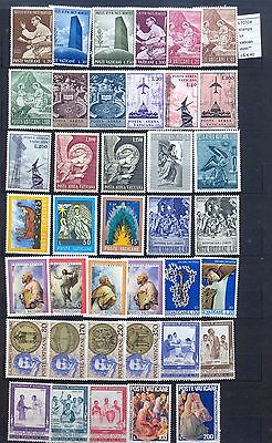 Beautiful Collection Lot Stamps Vatican City Pope Mnh** (L10324)