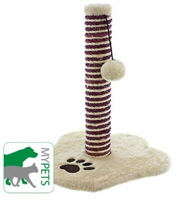New My Pets Cat Scratch Post Ideal For Trimming Cat Claws Purrfect Play Toy Fun