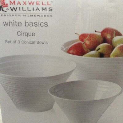 Maxwell & Williams Serving Bowls White Set Of 3 comes with a free gift