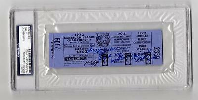Reggie Jackson signed 1972 ALCS Game 3 ticket Psa slabbed autograph Oakland A's