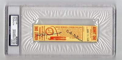 Red Schoendienst Signed 68 St Loiuis Cardinals Stadium Fan Club Ticket Psa auto