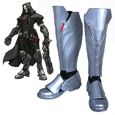 Overwatch OW Reaper Cosplay Kostüme Costume Schuhe Shoes boots Stiefel Custom