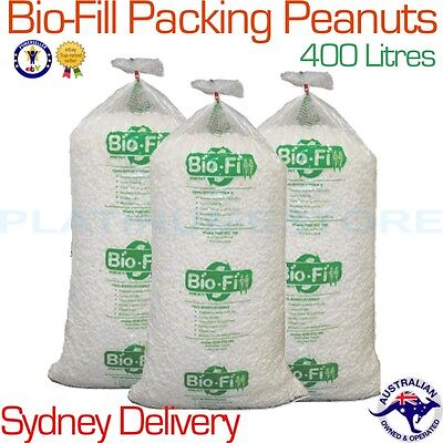 400L Bag Bio-Fill Void Fill Packing Peanuts Cushioning Nuts FREE SYDNEY DELIVERY