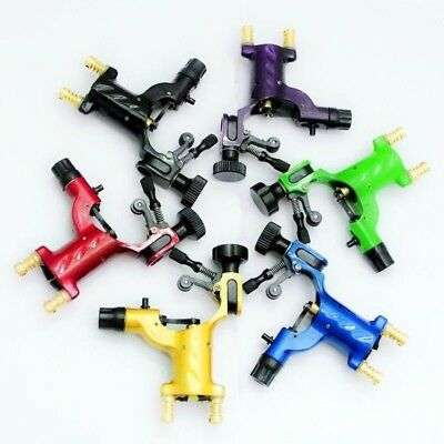 Pro 6pcs Mix Color Dragonfly Rotary Tattoo Machine Motor Gun Liner Shader Supply