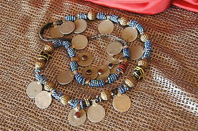 Old Afghanistan Kuchi Pashtun Tribal Beaded Necklace  (b)