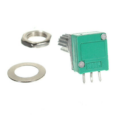 100 K Ohm linear Rotary Pot-Potentiometer mit Mutter /& Di Y4N9 Y2W3 R8 M4R8 5X