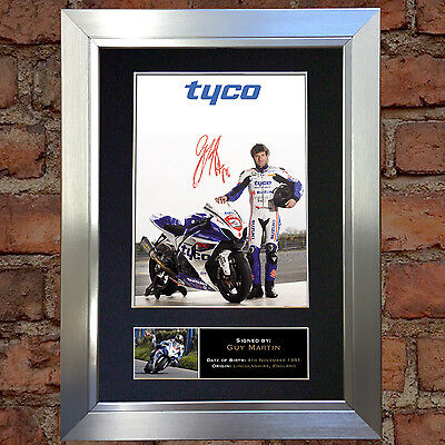 GUY MARTIN Signed Autograph Mounted Photo Repro A4 Print 307