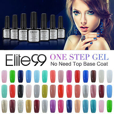 Elite 99 Esmalte de Uña de Gel 3 en 1 Paso Soak Off UV LED Manicura 10ml