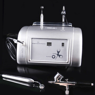 2IN1 95% Pure Oxygen Skin Facial Injection Vacuum Skin Care Lifting Tone Beauty