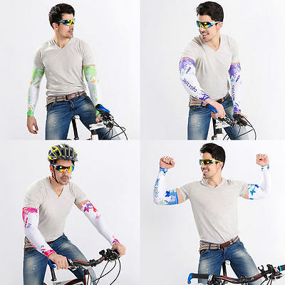 1 Pair Cycling Bike Arm Sleeve Cover Warmers UV Sun Protection Oversleeves