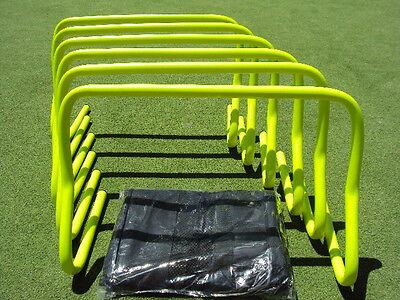 "Micro Agility Hurdles 12"" set of 6 with free carry bag"